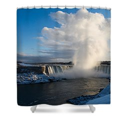 Niagara Falls Makes Its Own Weather Shower Curtain