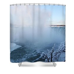 Niagara Falls -  Minus 20 C Shower Curtain by Phil Banks