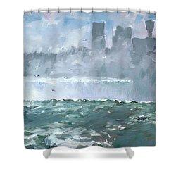 Niagara  Falls Mist  Shower Curtain by Ylli Haruni