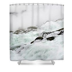 Niagara Falls With Observation Tower Behind Shower Curtain