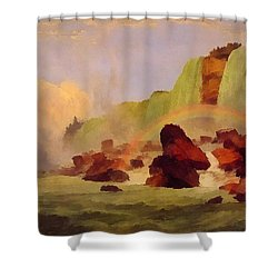 Niagara Falls With View Of Clifton House Shower Curtain by Jasper Francis