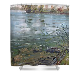 Niagara River Spring 2013 Shower Curtain by Ylli Haruni