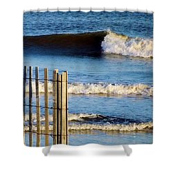 Nice Wave Shower Curtain by John Wartman