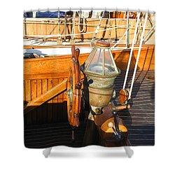 Nice Wheel Captain Shower Curtain by Kym Backland