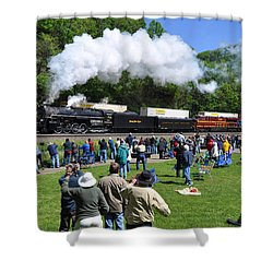 Nickel Plate Berkshire At Horseshoe Curve Shower Curtain
