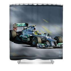 Nico Rosberg Mercedes Benz Shower Curtain