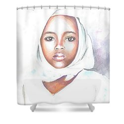 Nigerian Girl Shower Curtain by Jovica Kostic