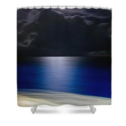 Night And Water Shower Curtain