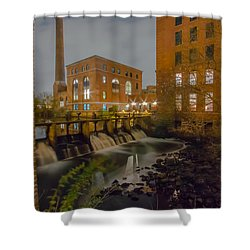 Night At The River Shower Curtain