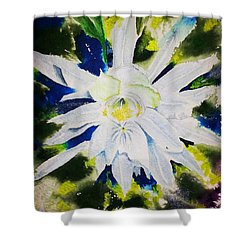 Night Bloomer Shower Curtain