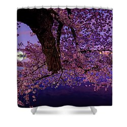 Night Blossoms Shower Curtain