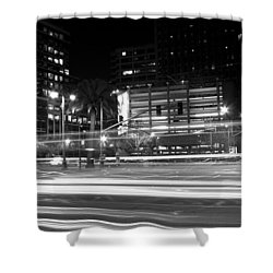 Night Blurs Shower Curtain