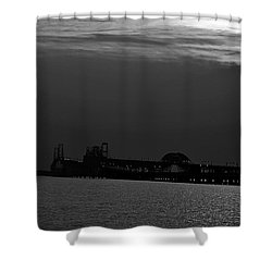 Night Bridge Shower Curtain