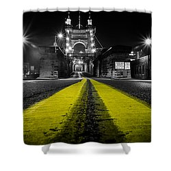 Night Bridge Shower Curtain by Keith Allen