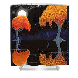 Night Companions  Shower Curtain