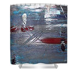 Shower Curtain featuring the painting Night Drive by Lucy Matta