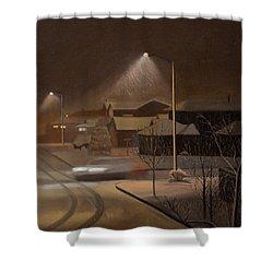 Night Drive Shower Curtain