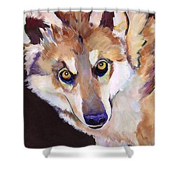 Night Eyes Shower Curtain by Pat Saunders-White