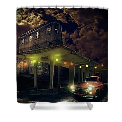 Night Fill Shower Curtain by Nathan Wright