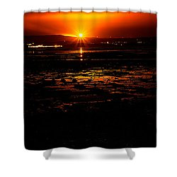 Night Flare. Shower Curtain