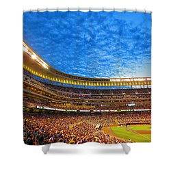 Night Game At Target Field Shower Curtain