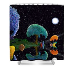 Night Games Shower Curtain