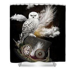 Night Guardian Shower Curtain