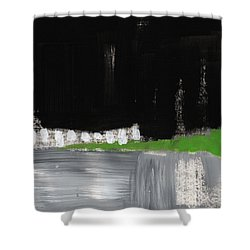 Night Horizon- Abstract Landscapeart Shower Curtain