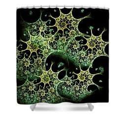 Night Lace Shower Curtain