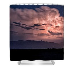 Night Lightning Shower Curtain