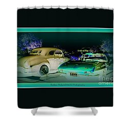 Shower Curtain featuring the photograph Night Lights With The Classics by Bobbee Rickard