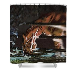 Shower Curtain featuring the digital art Night-mare by Stuart Turnbull