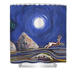 Night Of Mysteries Shower Curtain