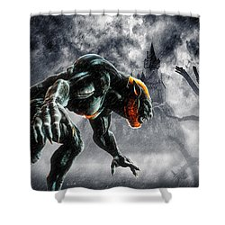 Night Of The Lycan Shower Curtain by Bob Orsillo