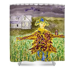Night Owl Scarecrow Shower Curtain