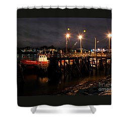 Night Pier Shower Curtain