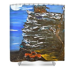 Night Shack Shower Curtain