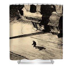 Night Shadows Shower Curtain by Edward Hopper