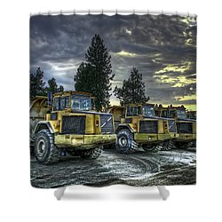 Night Shift Shower Curtain by Daniel Hagerman