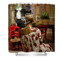 Shower Curtain featuring the photograph Cherry Bomb by Natalie Ortiz