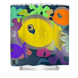 Night Swimming Shower Curtain by Christine Fournier