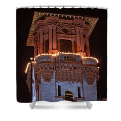 Night Tower Shower Curtain by Kenneth Albin