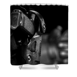 Night Traffic Stop Two Shower Curtain by Bob Orsillo