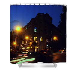 Shower Curtain featuring the photograph Night View by Salman Ravish