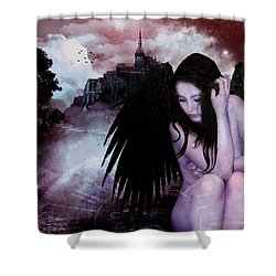 Night Watcher Shower Curtain