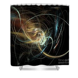 Night Whimsy Shower Curtain by Sara  Raber