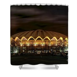 night WVU basketball Coliseum arena in Shower Curtain