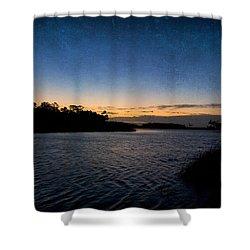 Nightfall Shower Curtain by Beverly Stapleton