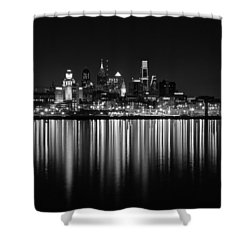 Nightfall In Philly B/w Shower Curtain