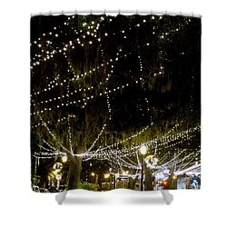 Nights Of Light 2 Shower Curtain by Kenneth Albin